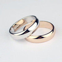 New Men's & Ladies' Genuine 18K Rose Gold or Platinum Plated Engagement Ring or for Special Occasions from HOPEFIELD & CO.