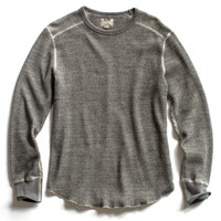 Waffle Thermal in Charcoal Heather