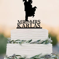 Country Western Wedding Cake Topper Personalized