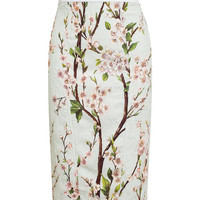 DOLCE & GABBANA | Floral Printed Textured Pencil Skirt | Browns fashion & designer clothes & clothing