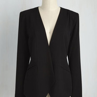 Sleek, Chic, and Totally Unique Blazer in Black