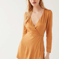 UO Goldmine Plunging Skort Romper | Urban Outfitters