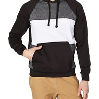 Wide Striped Pullover Hoodie