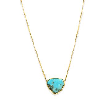 Large Teardrop Kingsman Turquoise Necklace