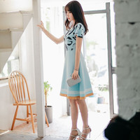 Light Blue Grafitti Dress