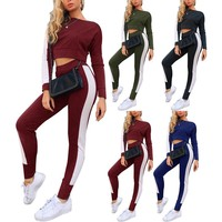 Women Leggins Sport Women Fitness European And American Style Casual Sexy Piecing Sports Suit Two-piece Sportswear