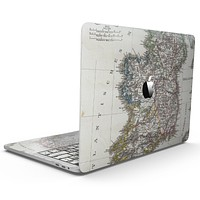 The Vintage Ireland Map  - MacBook Pro with Touch Bar Skin Kit