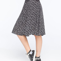Lily White Midi Skirt Black/White  In Sizes
