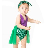 Little Mermaid Tail Princess Dress Halloween Costume for Toddler