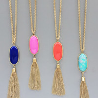 Kate Pendant Necklace - 4 Colors