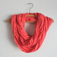 Coral Infinity Scarf - Free Shipping- Coral Scarf- November trends