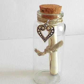 "Message in a Bottle, Romantic, Gifts for Women, Gifts for Men, ""Forever and Always"" , Poem, Anniversary, Love Note, Valentines, Gift Idea"