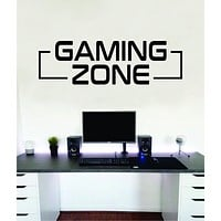 Gaming Zone Large Video Game Wall Decal Sticker Vinyl Decor Art Home Bedroom Room Retro Nerd Teen Funny Gamer Gaming Streamer Kids Baby Xbox Ps4 Ps5