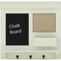 Benzara Bochum Chalkboard Wall Shelf Hook
