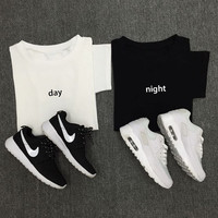 Best Friend Shirt - BFF Shirt - Best Friend Gift - Bestie Shirt Gifts- Day and Night Tops - Couple Twins Top - Black Shirt - White Shirt