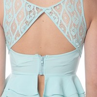 Lace Back Crop Top - Mint from Casual & Day at Lucky 21 Lucky 21