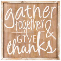 Gather Together Wood Wall Art | Hobby Lobby