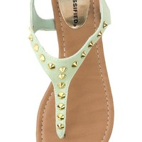 City Classified Diarys Studded Thong Sandals and Shop Shoes at MakeMeChic.com