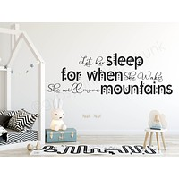 Let Her Sleep - Girls Room Wall Decals - Nursery Room Decor
