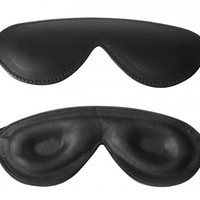 Padded leather blindfold