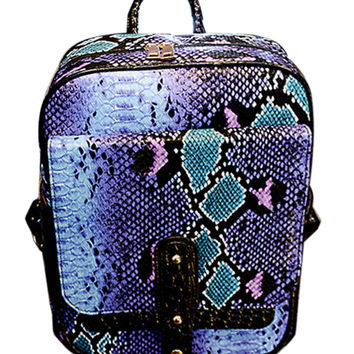 Blue Snake Backpack