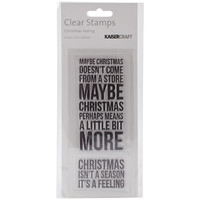 """Texture Clear Stamps 2""""""""X5""""""""-Christmas Feeling"""