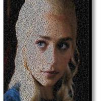 Game Of Thrones Daenerys Targaryen Quotes Mosaic Print Limited Edition