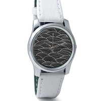 Black And White Abstract Wrist Watch