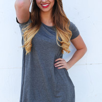 Give And Take Tunic {Heather Grey}