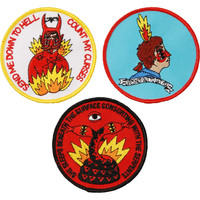 Neck Deep Men's Set Of 3 Embroidered Patch Multi