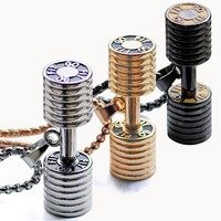 High Quality Dumbbell Pendant Necklace