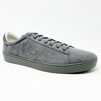 Fred Perry Spencer Microfiber Falcon Gray B3009 Mens Casual Sneakers Size 13