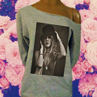 Stevie Nicks Gypsy Off The Shoulder Sweatshirt (Choose From Six Different Images)