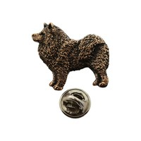 Samoyed Pin ~ Antiqued Copper ~ Lapel Pin