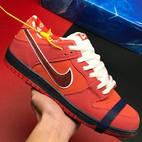 Nike Dunk SB Low Lobster Series Fashion Men Leather Sport Running Shoes Sneakers Red