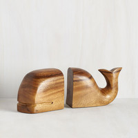 Nautical Whale of a Tale Bookends by ModCloth