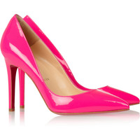 Christian Louboutin The Pigalle 100 patent-leather pumps NET-A-PORTER.COM
