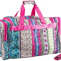 World Traveler Boho Patchwork Duffle Bag 22-inch