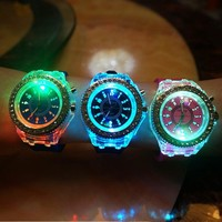 Trendy Awesome Stylish Designer's Good Price Great Deal Gift New Arrival Noctilucent Rhinestone Watch [11066526868]