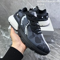 DCCK2 A678 Adidas POD S3.1 Bape x Neighborhood boost Running Shoes Black White