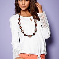 White Button neck top from VENUS