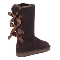 UGG Selling Classic Short Snow Boots Casual Three Bowknot High Top Warm Shoes Boots