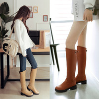 On Sale Hot Deal Plus Size Korean Princess Knee-length With Heel Metal Decoration Boots [6366199300]