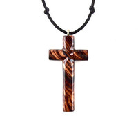 Wood Cross Necklace, Wooden Cross Pendant, Mens Cross Necklace, Wooden Cross Necklace, Christian Jewelry, Hand Carved Cross, Mens Jewelry