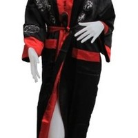 THAIMART BEAUTIFUL (Chinese Bath Robe with Really Big Dragon in Both Side) Beautiful Handicraft Robe Can Be Used Both Side (Light Red & Black) Approx.size = Ampit to Ampit 27 Inches Long 50 Inches Big Pattern Dragon