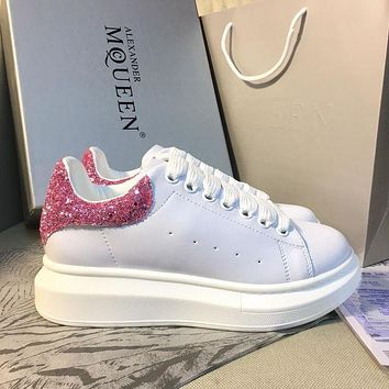 Alexander McQueen Classic white shoes-3