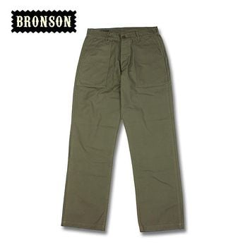 bronson OG-107 male military style loose straight cut casual long trousers pants