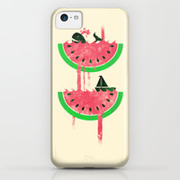 Watermelon falls Final iPhone & iPod Case by Jonah Block