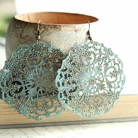 Large Filigree Earrings Lacey Pattern Spanish by apocketofposies
