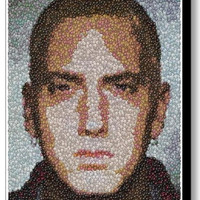 Framed 9X11 Eminem M&Ms Candy incredible Mosaic Limited Edition Art Print COA